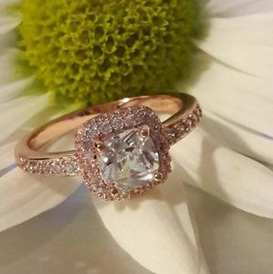 18kgp Rose Gold Engagement Ring